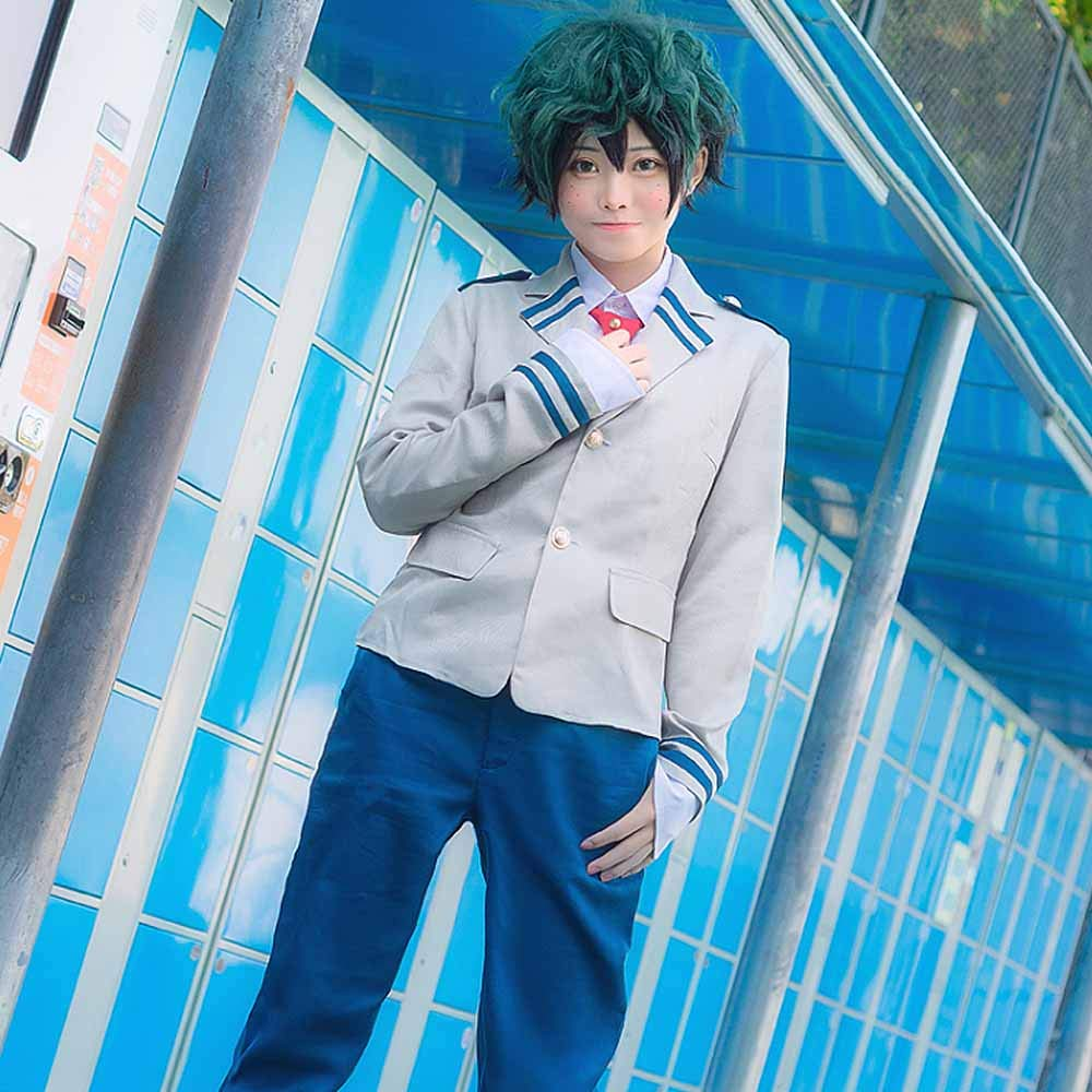 Anime Cosplay My Hero Academia Ochaco Uraraka/Izuku Blazer Cosplay Costume School Girls Boys Uniform Costume (Pants Set, S/Waist 24.41'') by KINOMOTO (Image #2)
