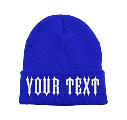5098075260474 Amazon.com  Parazon Custom Embroidery Personalized Text Ski Toboggan Knit  Cuffed Embroidered Beanie (Royal)  Sports   Outdoors