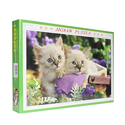 EKIMI Jigsaw Puzzles for Adults 1000 Piece - Lovely Cat - Decompression Fun Toy - Parent Child Cooperative Games: Toys & Games