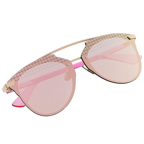 Gazechimp 1x Gafas de Sol Polarizada Acabado de Espejo Accesorios de Moda Unisexo - Rosado