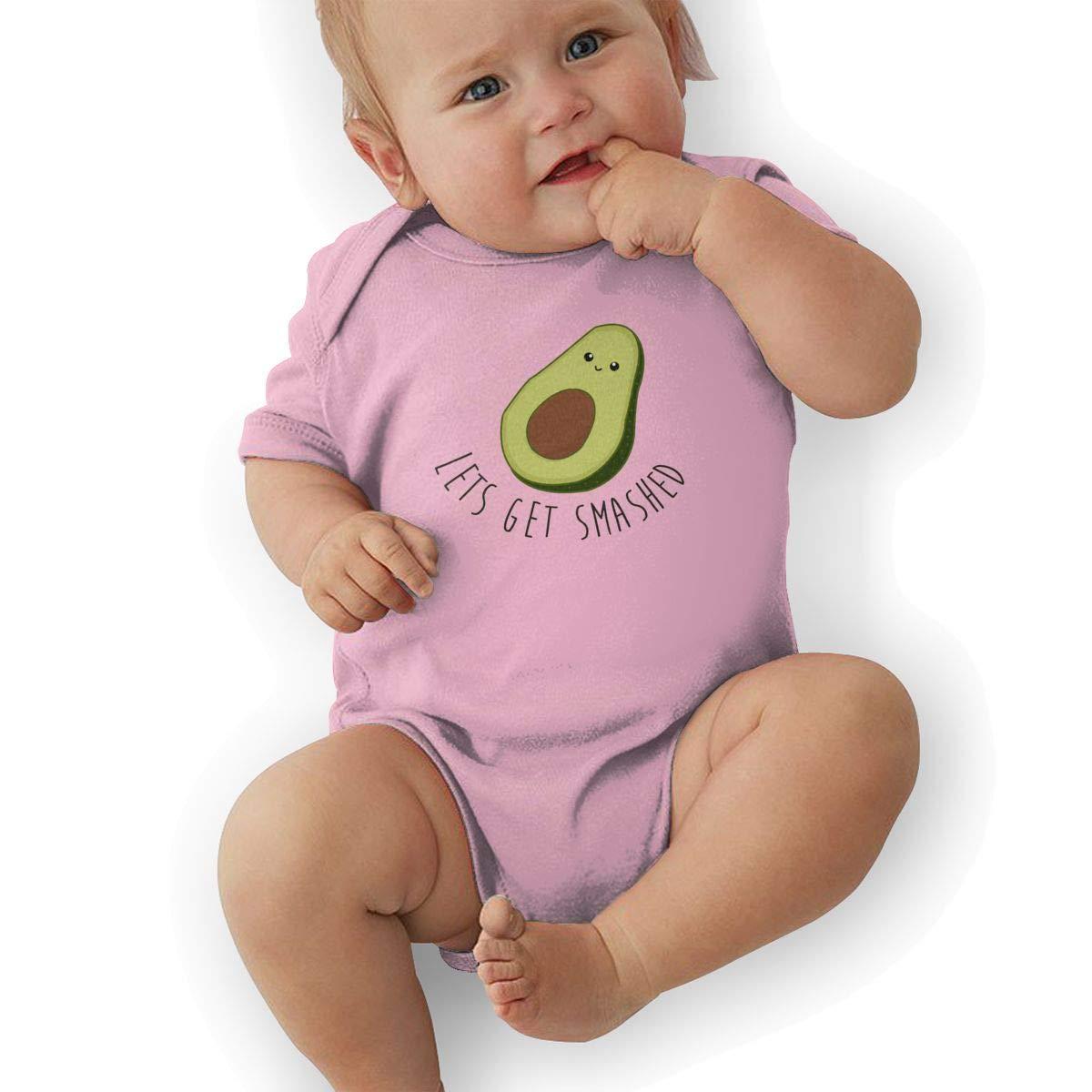 Toddler Baby Boys Bodysuit Short-Sleeve Onesie Lets Get Smashed Print Rompers Autumn Pajamas
