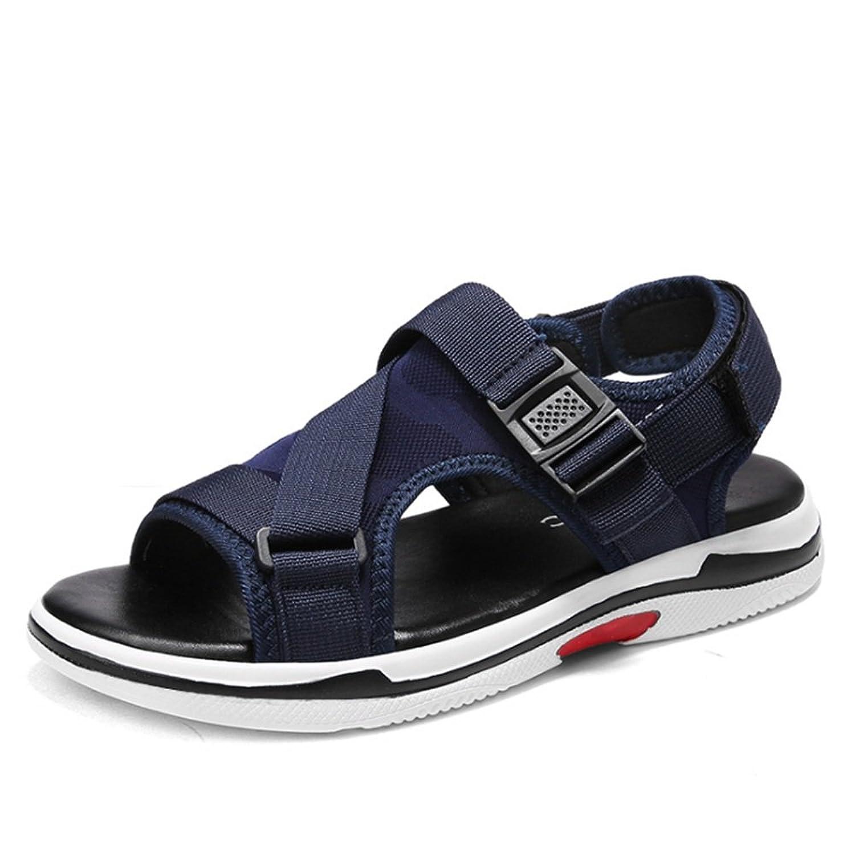 Sandalias Sandalias De Confort Ocasionales De Verano, Zapatos Azules Transpirables Azul