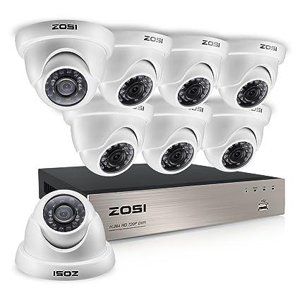 ZOSI 8 Channel red H.264 CCTV DVR en tiempo real 960H Sistema de cámaras