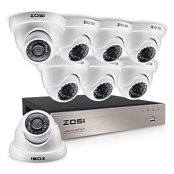 Amazon.com: zosi 720P HD 8 CH Vídeo Sistema de seguridad w/8 ...