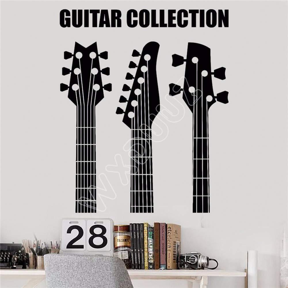 EXQART Etiqueta de la Pared Vinilo Tatuajes de Pared Guitarra ...