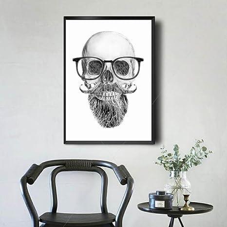 Acheter tableau peinture tete de mort online 5