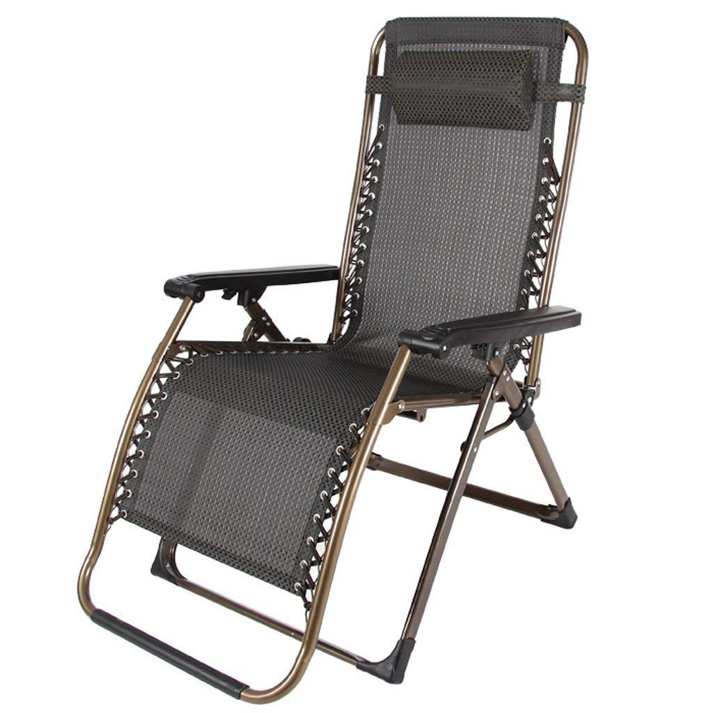 HhGold Amplia y Sencilla sillón reclinable, Silla Plegable ...