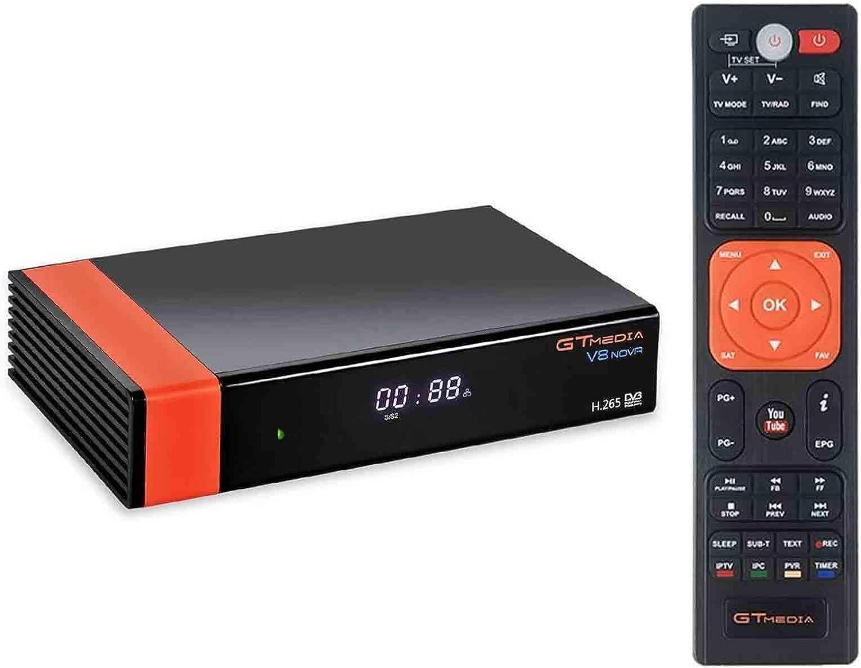 GT Media V8 Nova DVB-S2 Decodificador del Receptor de satélite con Wi-Fi / HEVC H.265 / TV SCART / 1080p Full HD / Ethernet / FTA ,Soporte Web TV ...
