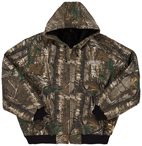 NFL Philadelphia Eagles The Camo Canvas Quilt Lined Hooded Jacket, Real Tree Camouflage, Small (Camoflauge Nfl)