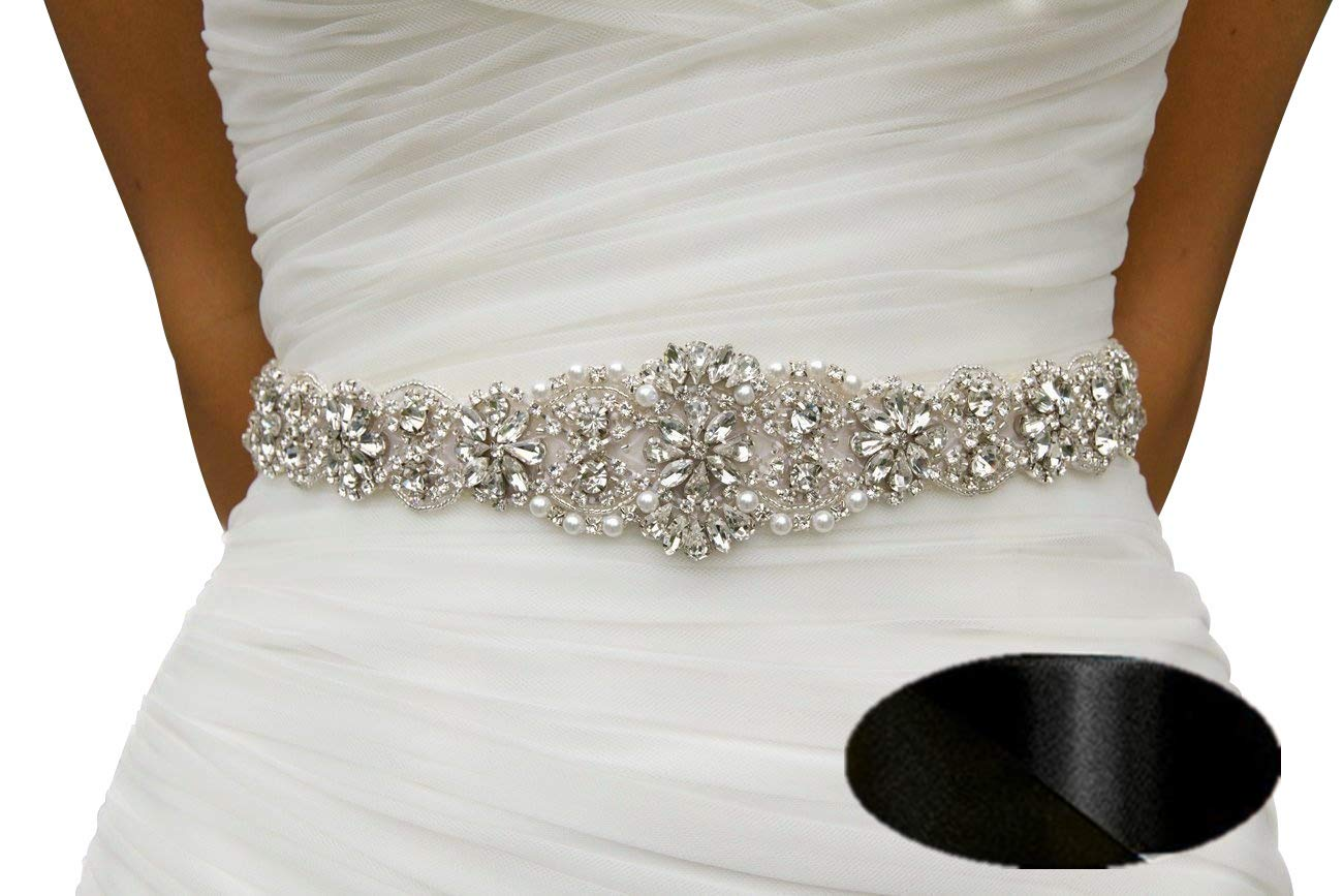 Crystal sashes for wedding, Wedding Bridal Belt, Braided Rhinestone Sash QueenDream 4337032046