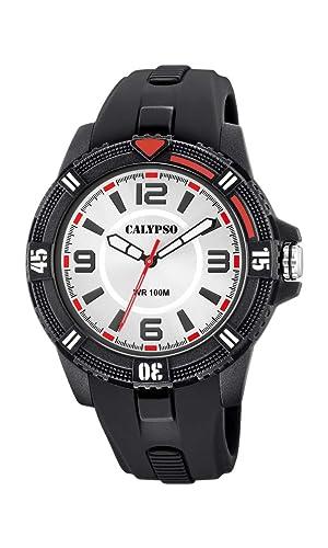 Calypso Watches Reloj Analógico para Unisex Adultos de Cuarzo con Correa en Plástico K5759/1: Amazon.es: Relojes