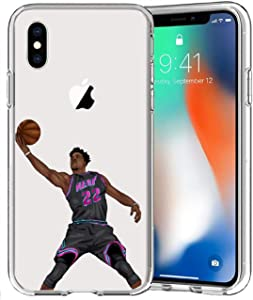 ETERINS Cases Ultra Slim [Crystal Clear] [Hardwood Series] Soft Transparent TPU Case Cover - Jimmy Buckets for iPhone Xs X (5.8)