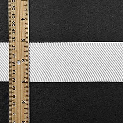 2 50mm 2 yard Elastic Trim TR-11831 Beige Elastic Ribbon Twill Elastic Band Trim Waistband Elastic