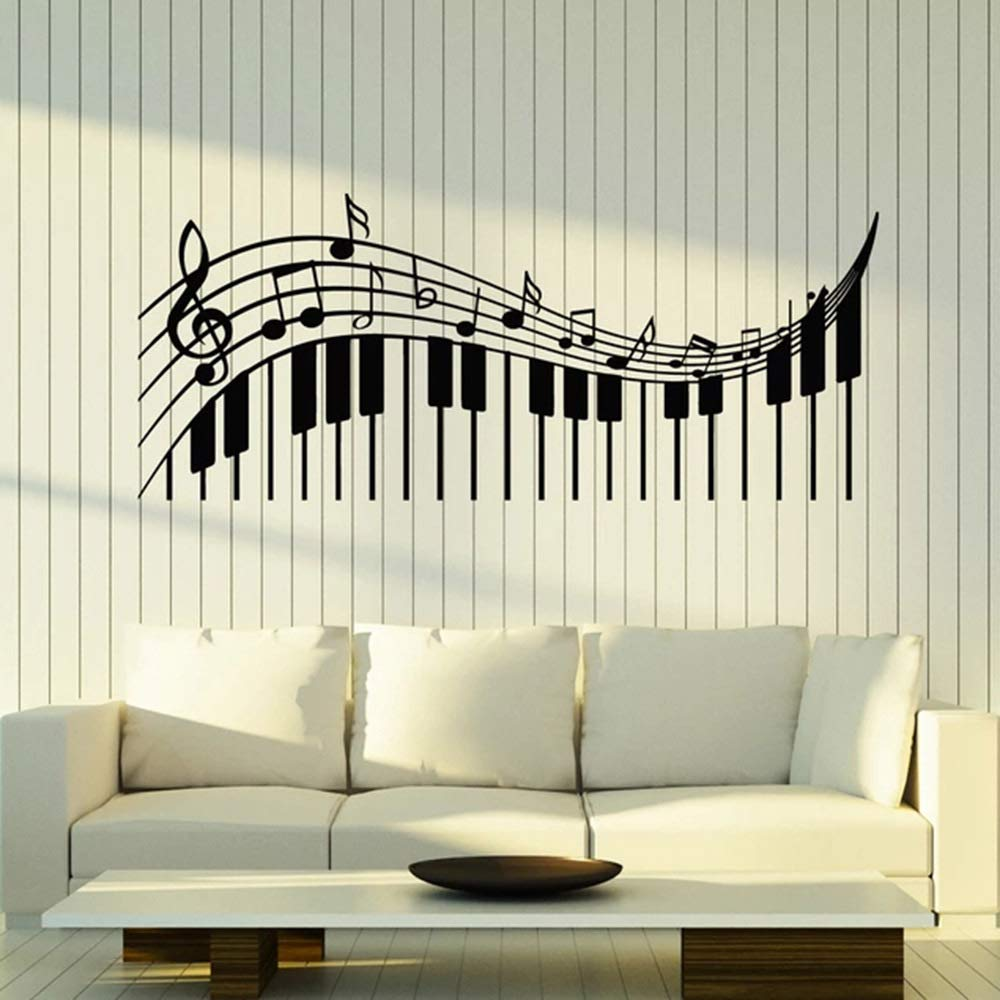 Clave de sol Teclas musicales Vinilo Tatuajes de pared Aula Música ...