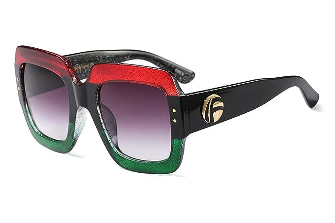 Amazon.com: FEISEDY B2276 - Gafas de sol cuadradas de gran ...
