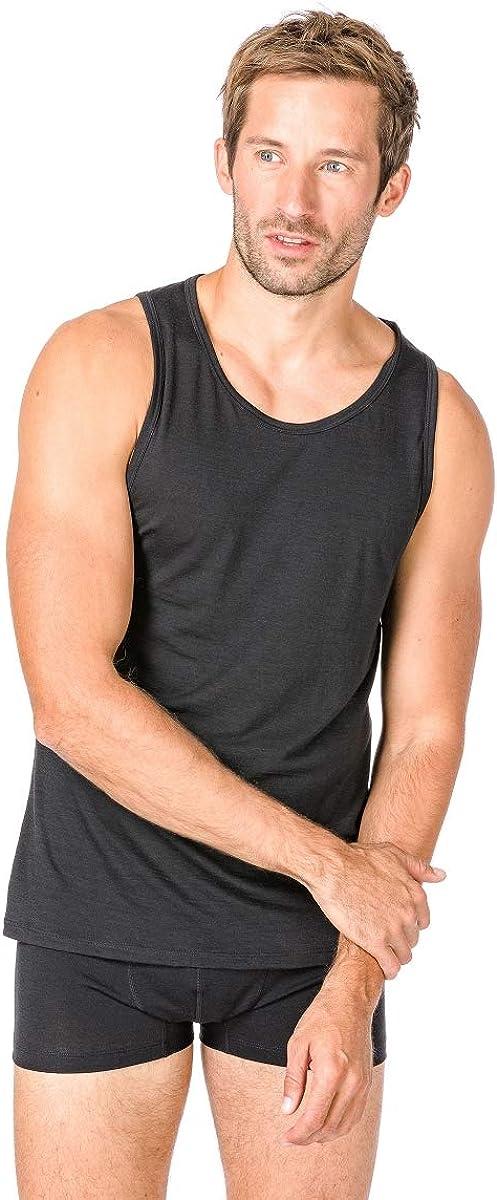 tama/ño XX-Large super natural M Base 140/Merino Camiseta oto/ño//Invierno Hombre Color Negro Azabache