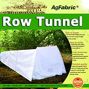 "Mini Grow Tunnel Greehouse Tunnel Garden,0.9oz Plant Row Cover With 6pcs Steel Hoops, Garden Greenhouse Frost Protection 10' Long x 25"" High 1set"