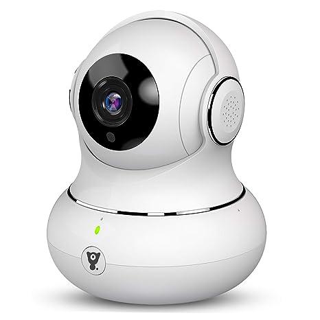 Littlelf Cámara IP de Seguridad, 1080P HD Cámara de Vigilancia Panorámica 3D Pan/Tilt