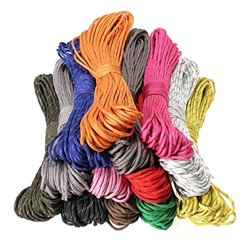 30 Feet 7 Strand Internal Core Reflective Parachute Cord Color Light Grey