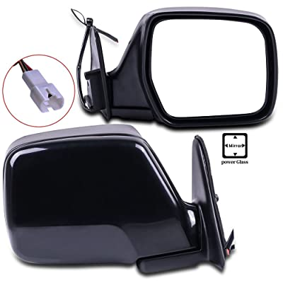 ECCPP Towing Mirrors High Performance Black Pair Mirrors Replacement Set Mirrors with Power Adjusted Manual Folding Replacement fit for 1996-1998 Lexus LX450 1990-1997 Toyota Land Cruiser: Automotive