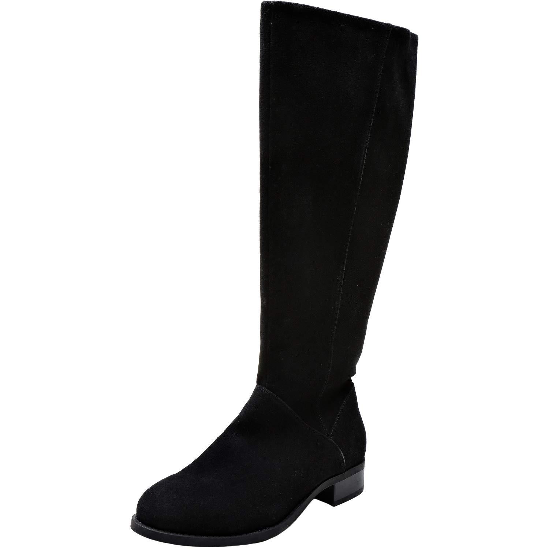277b53763ad94 Aukusor Women's Wide Width Knee High Boots - Wide Calf Low Heel Sanding  Upper Elastic Band Side Zipper Winter Boots.(180905 Black 7WW)