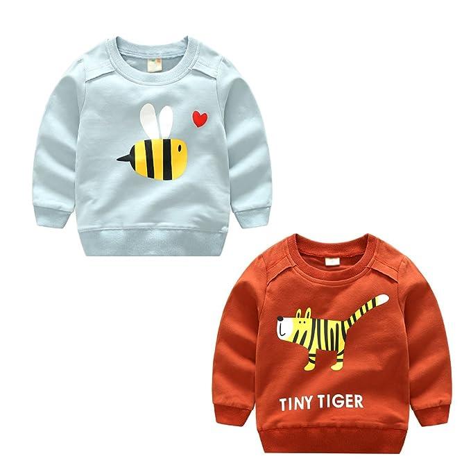 YuanDian Niño Primavera y Otoño Impresión De Dibujos Animados Sudaderas Manga Larga Sweatshirts Deportes Suéter 3