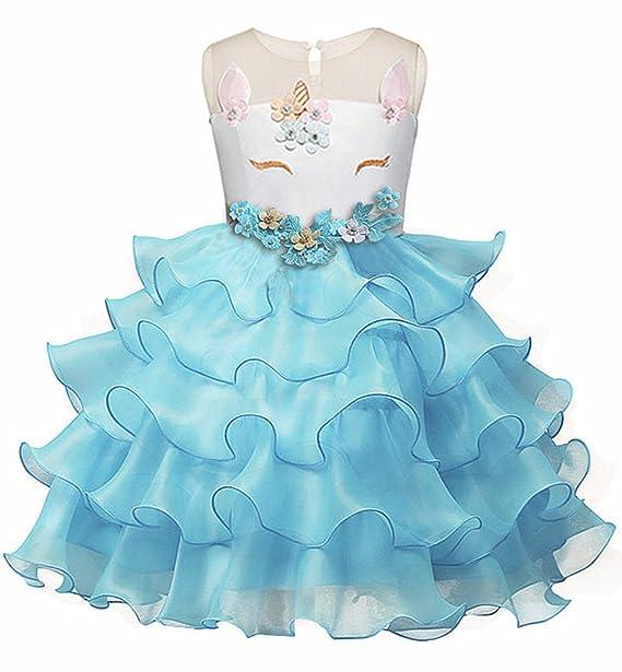 Amazon.com: Eshiree Little Girls Flower Ruffles Dress Princess ...