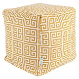 Majestic Home Goods Citrus Towers Indoor/Outdoor Bean Bag Ottoman Pouf Cube 17'' L x 17'' W x 17'' H