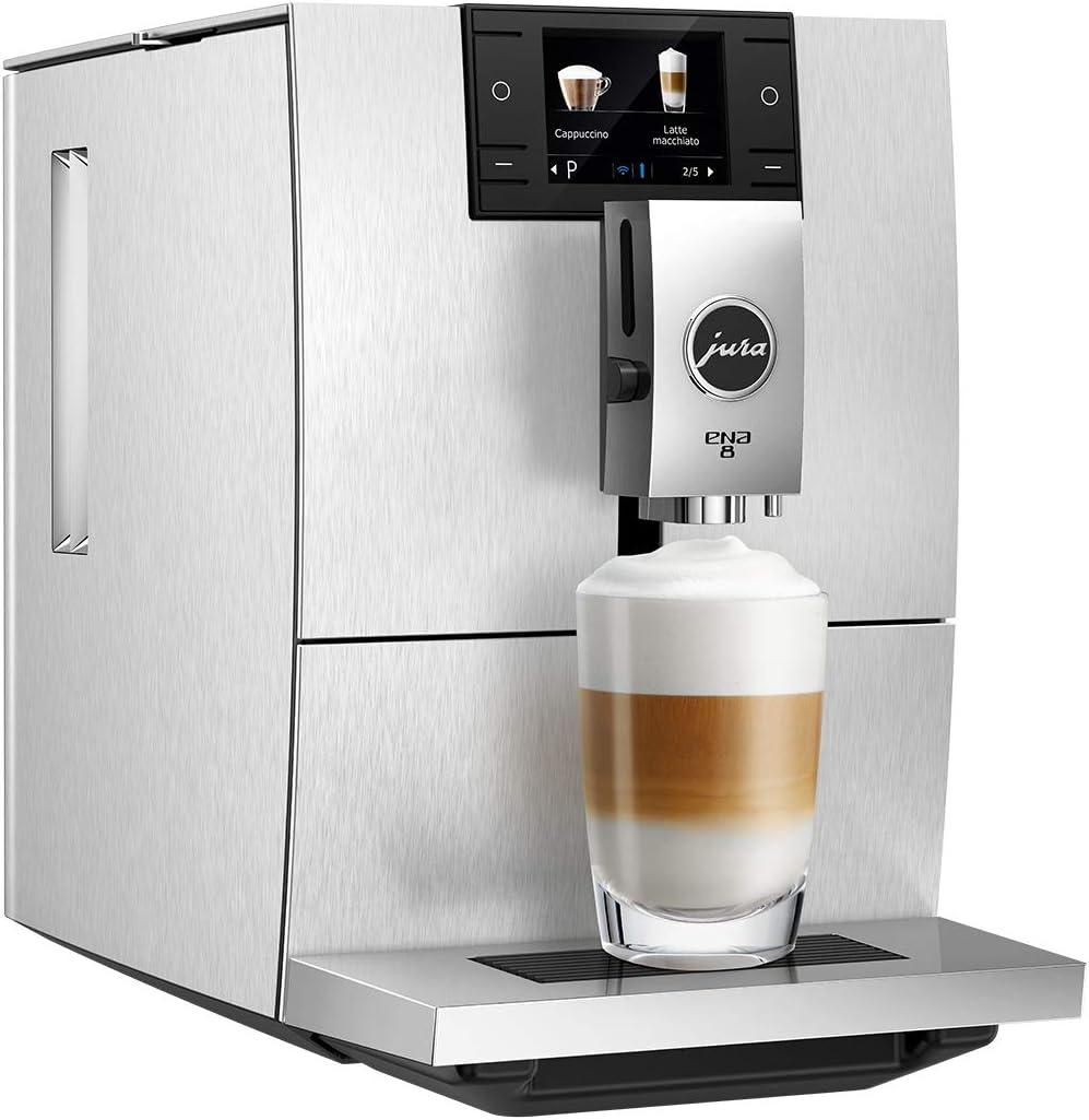 JURA ENA 8 Independiente Máquina espresso Aluminio 1,1 L 10 tazas Totalmente automática - Cafetera (Independiente, Máquina espresso, 1,1 L, Molinillo integrado, 1450 W, Aluminio): Amazon.es: Hogar