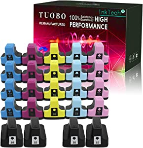 Tuobo Remanufactured Ink Cartridge Replacement for 02 Q7964AN to use with PhotoSmart C7280 C6280 C5180 C6180 D7360 D7460 8250 C7200 (4 Set)
