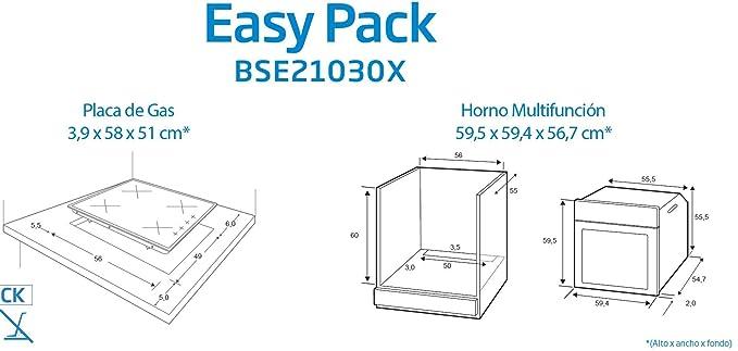 BEKO BSE21030X Conjunto Clase energética, Acero INOX, Horno Ancho ...
