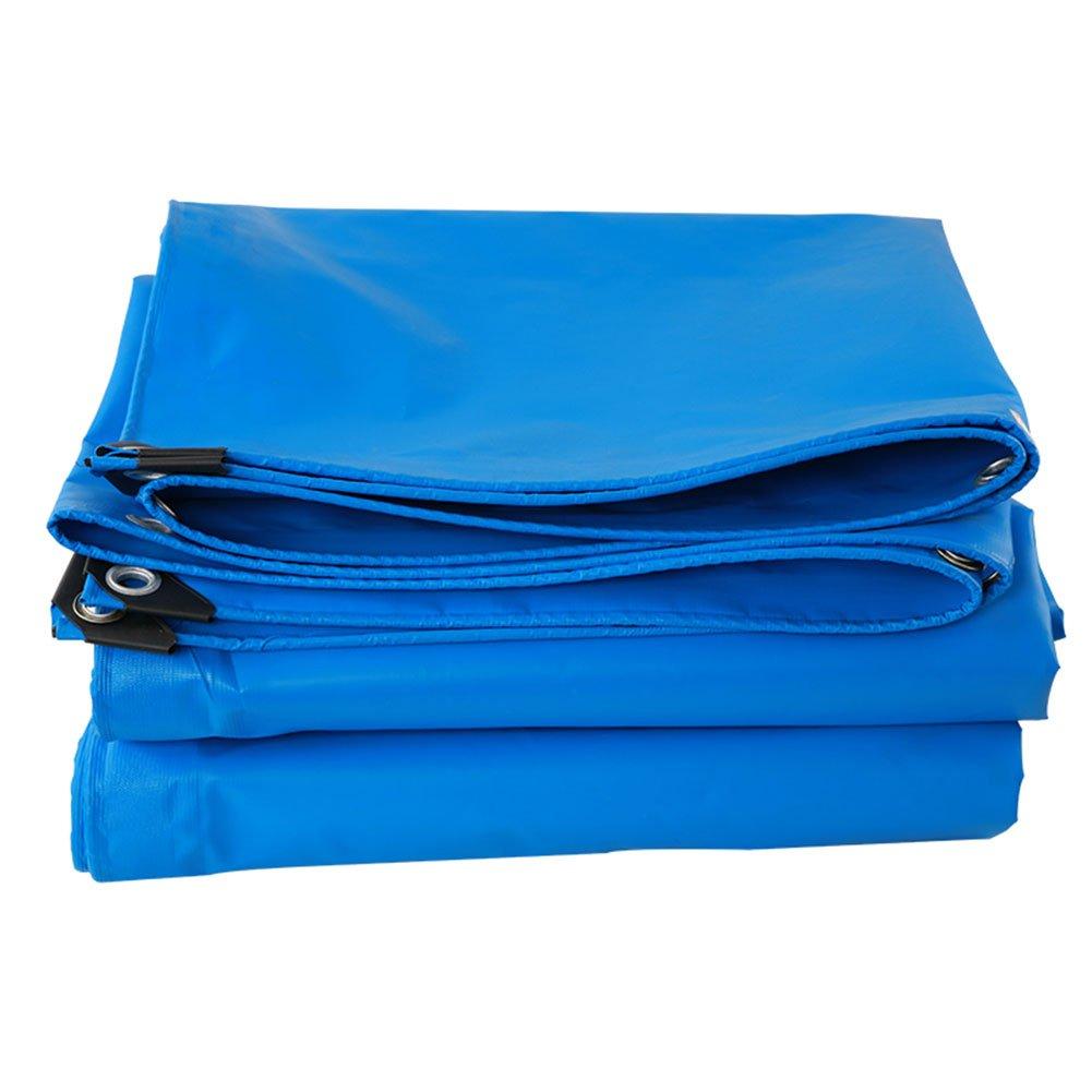 CHAOXIANG オーニング 厚い 折りたたみ可能 両面 防水 耐高温性 耐摩耗性 日焼け止め 耐寒性 耐食性 防塵の PVC 青、 400g/m 2、 19サイズ (色 : 青, サイズ さいず : 4×5m) B07D9LCFH1 4×5m|青 青 4×5m