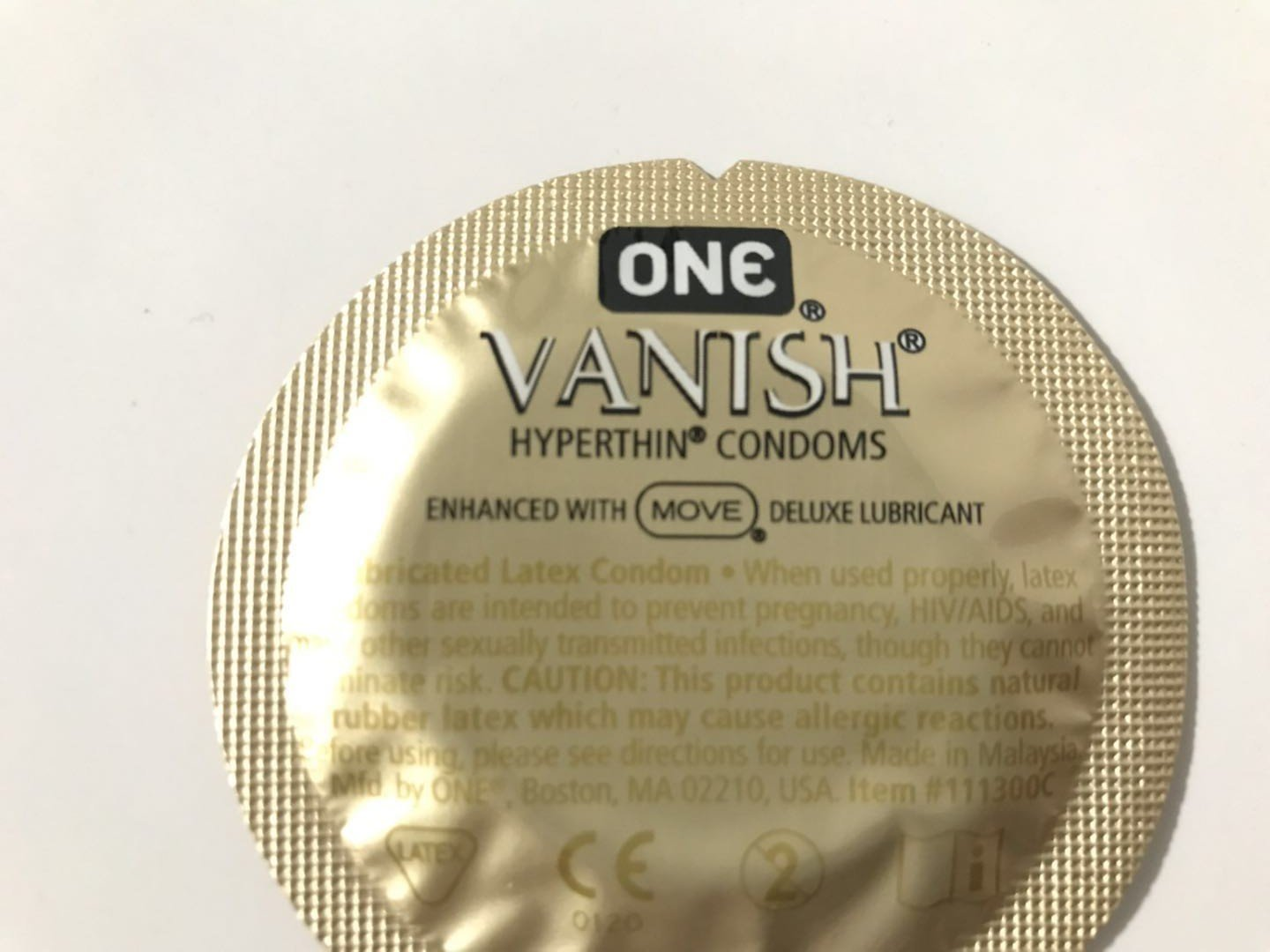 ONE Vanish Hyperthin Condoms Bulk (100) by Vanish