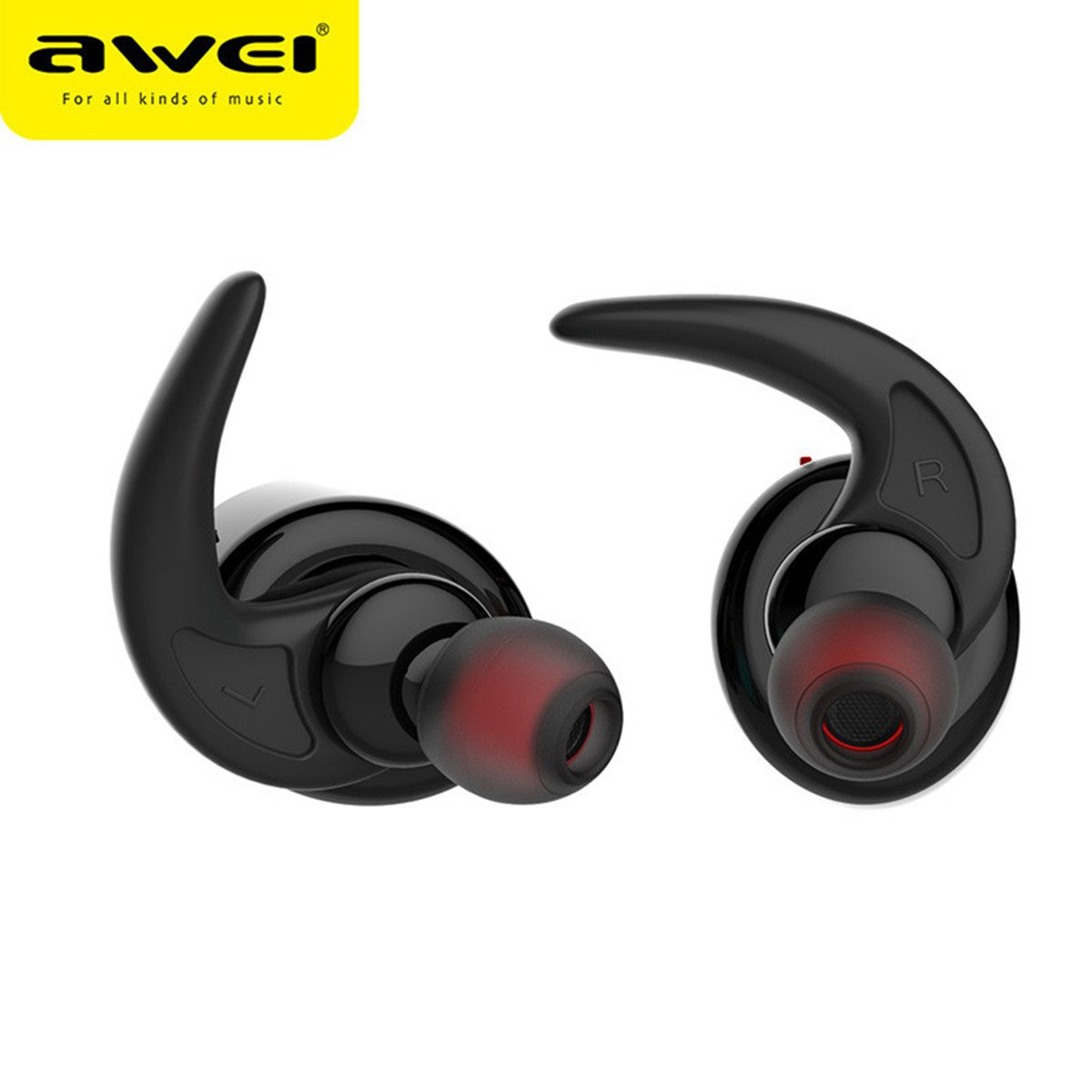 Awei T1 Single/Pairs Ture Wireless Get Rid Of Wire Binding earbuds, One Button Operation Bluetooth V4.2 Waterproof IPX4 Sport Headphones for Running Gym Exercise Hands-free Calling for iphone7(Gold) by AWEI (Image #2)