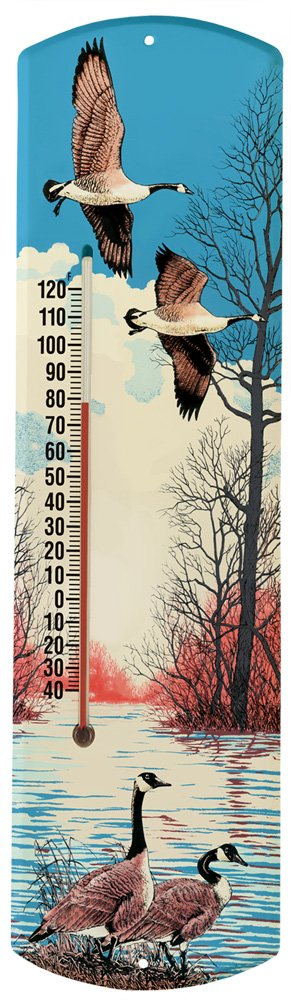 Heritage America by MORCO 375CG Canadian Geese Outdoor or Indoor Thermometer, 20-Inch
