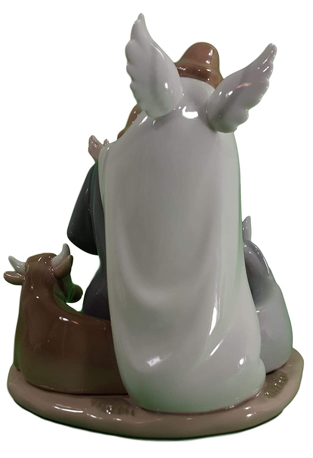 Cosmos Gifts 10528 Angel with Holy Family Ceramic Figurine, 7-5 8-Inch
