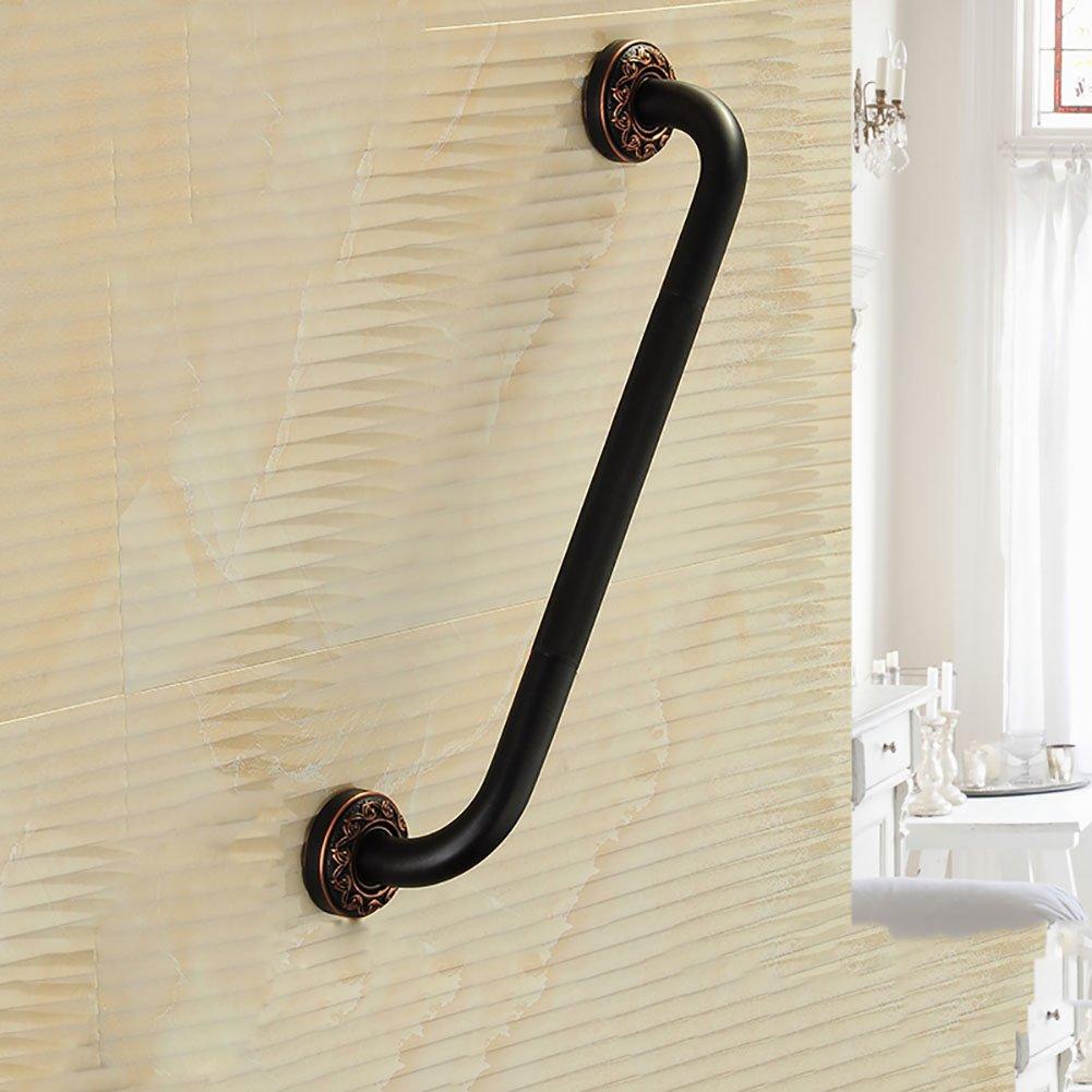 ブラックアンティークブロンズ手すり浴室の安全古いハンドル彫刻ベース51cm ( 色 : A ) B07CNQ1Y3S A A