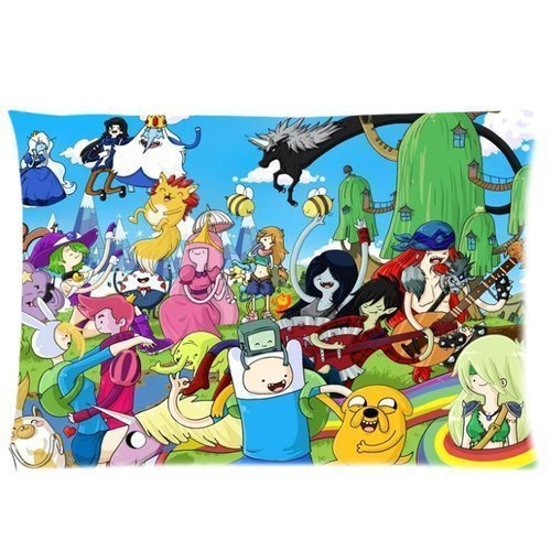 Adventure Time with Finn and Jake Pillowcase Standard Size 16x24 (Two sides) Custom Cushion Pillow Case