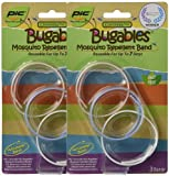 BUGABLES Mosquito Bug Repellent Bracelet Bands DEET FREE ReUsable For Up to 200 Hours (Set of 6),colors may vary