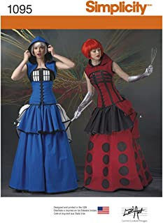 product image for Simplicity 1095 Time Traveler Cosplay and Halloween Costume Sewing Pattern for Women, Sizes 6-14