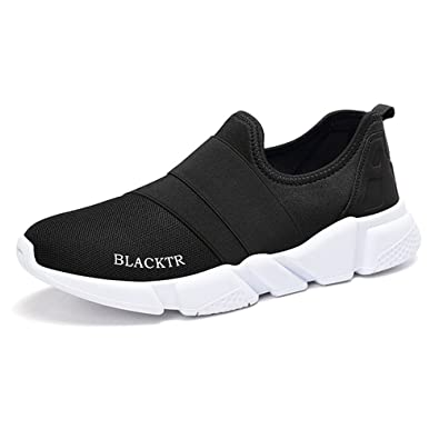 Monrinda Women Men Mesh Slip on Running Shoes Lightweight Elastic Running  Trainers Breathable Multi Casual Walking Sport Sneakers Size 4-8.5   Amazon.co.uk  ... f98c674a31e4