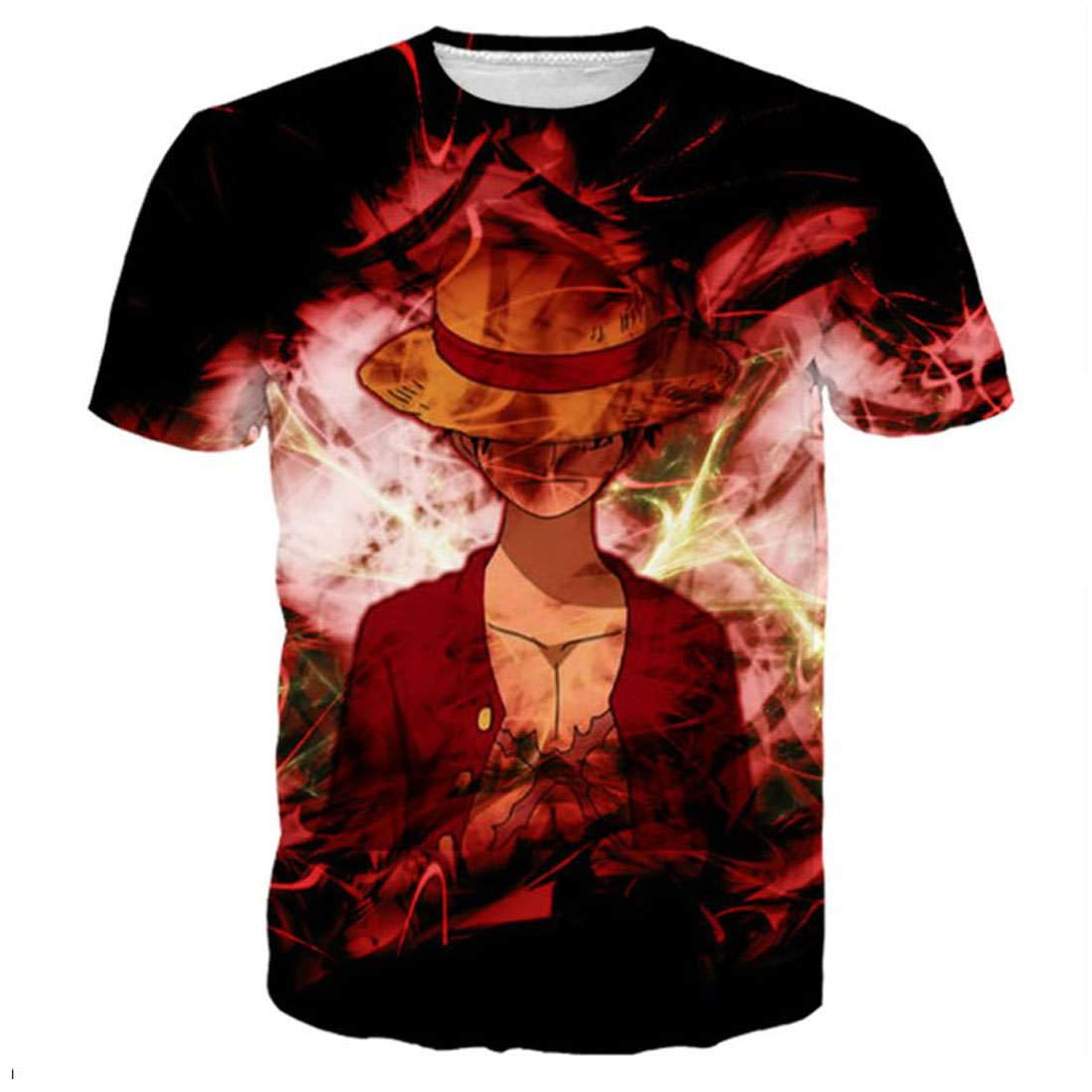 GGmar Luffy One Piece Printed Summer Men/Women Hip Hop Strretwear T Shirts Tee Top
