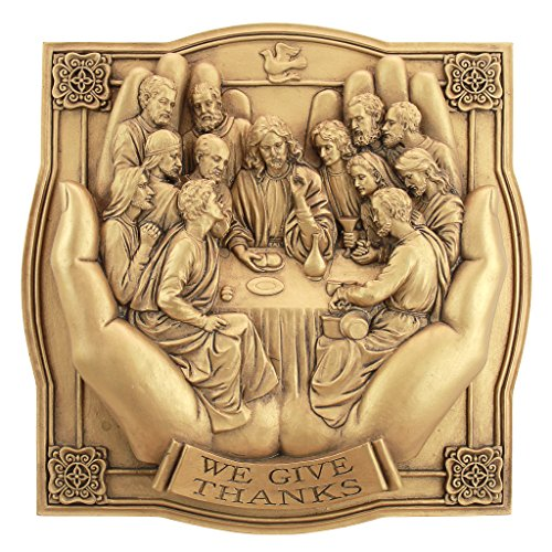 Design Toscano Giving Thanks Lord's Supper Wall Sculpture
