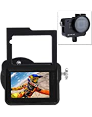 PULUZ for GoPro New Hero (2018) GoPro HERO6/5 CNC Aluminum Alloy Housing Shell Case Protective Cage with Insurance Frame & 52mm UV Lens