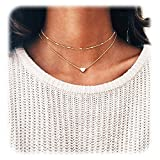 #3: Wowanoo Choker Necklace Set Multilayer Layers Chain Clavicle Necklace Jewelry for Women