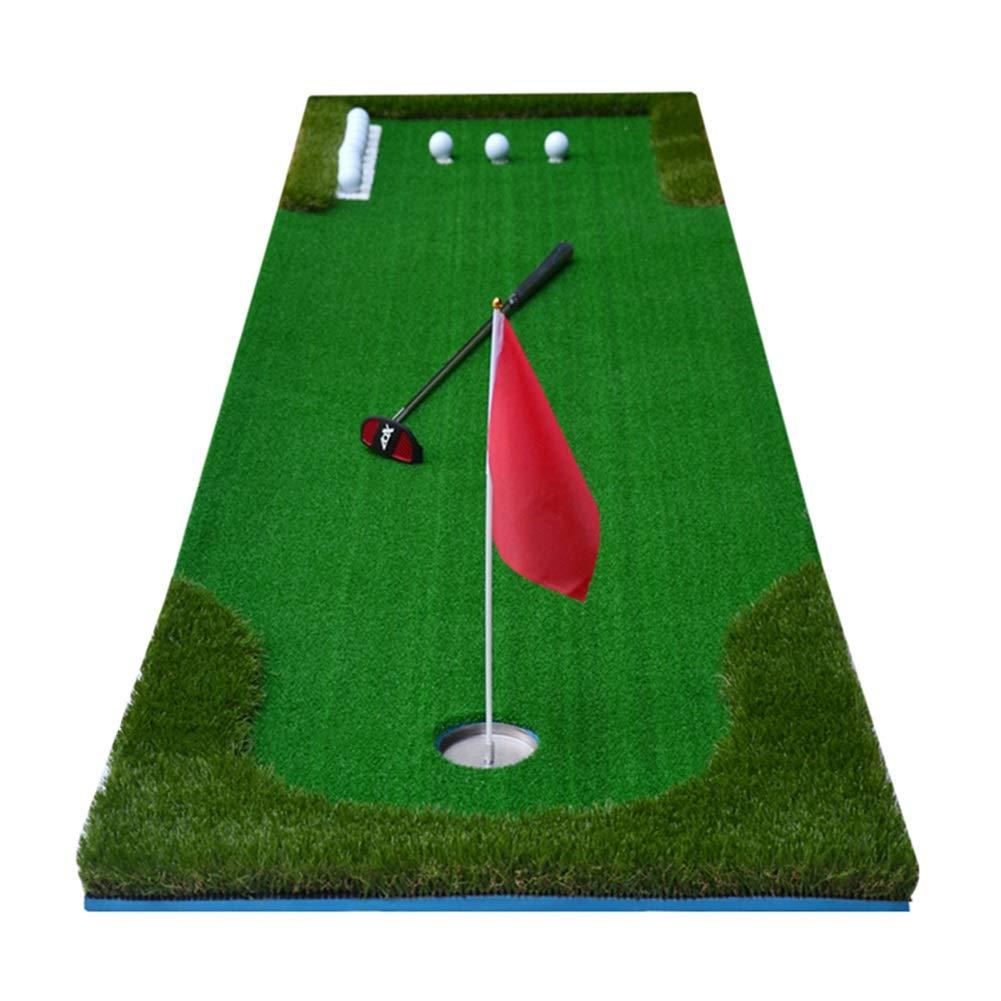 9.8フィート 屋内/屋外 ゴルフパッティング トレーナーマット ポータブル プロフェッショナル 練習 ミニ ゴルフトレーナー パッティング グリーン 300cm×75cm  B07L7SN927