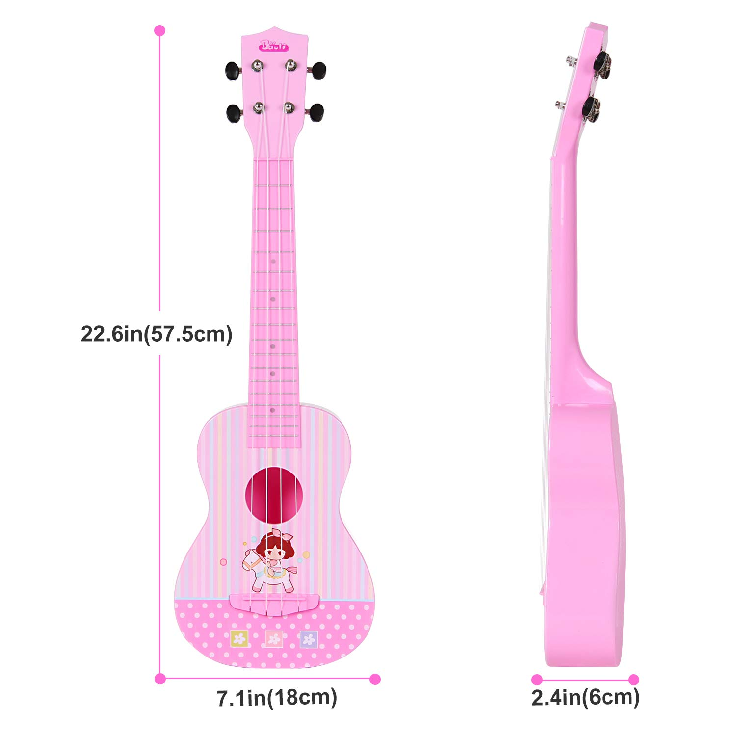 Amazon.com: Ukulele Guitar Toy, 4 Strings Musical Instrument for Girl Boy Toddler Beginner with APP Control: Toys & Games