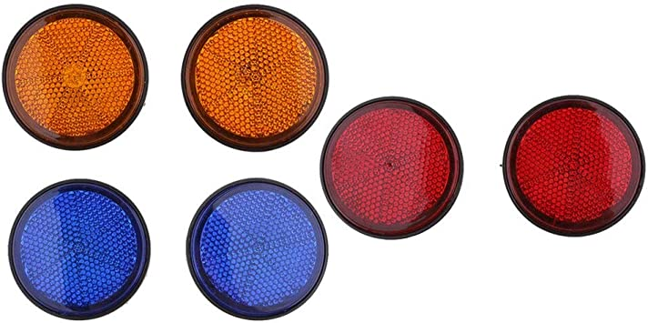 Red License Plate Reflector Set For ATV Bikes Dirt Bikes Motorcycles Universal