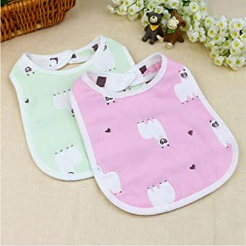 MXJ61 Baberos de bebé Recién Nacidos algodón Gasa no Impermeable 2 ...
