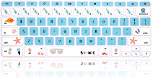 MMDW Silicone Keyboard Cover for Acer Chromebook Spin 11 311 CP311 511 512/Chromebook 11 CB3-131 CB3-132 CP311 C738T CB5-132T/Chromebook Spin 713 CP713 R13 CB5-312T/Chromebook 14 15.6 inch,Summer